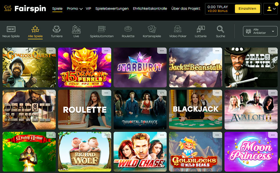 Online casino three card poker